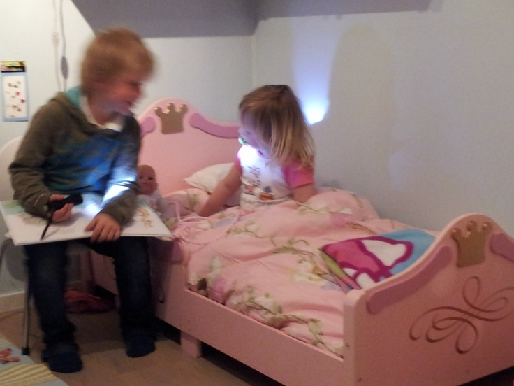 New princess bed and a very nice big brother!