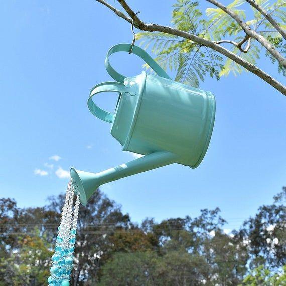 Watering Can Crystal Suncatcher Garden Display Beaded Etsy Suncatcher Giesskanne Kristalle