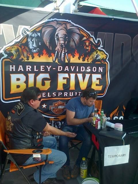 HOG Director, William Bruntnell collecting another stamp — with TatII studio at the Nelspruit Motor Show 2014