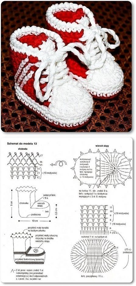 Crochet Baby Boots - Chart ❥ 4U hilariafina  http://www.pinterest.com/hilariafina/