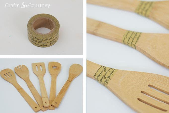 Easy Wooden Spoon Makeover Paint Mod Podge Mod Podge Rocks Wooden Spoons Mod Podge Dishwasher Safe Mod Podge