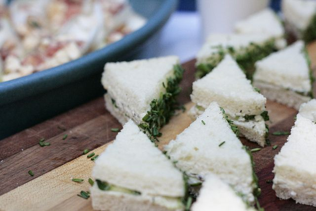 Tea sandwiches (goat cheese, cucumber & chive) by reading my tea ...