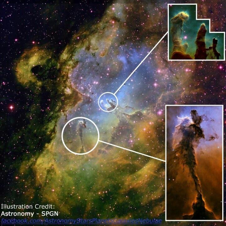 Eagle Nebula Photos Pillars Of Creation Located In The Tattoo
