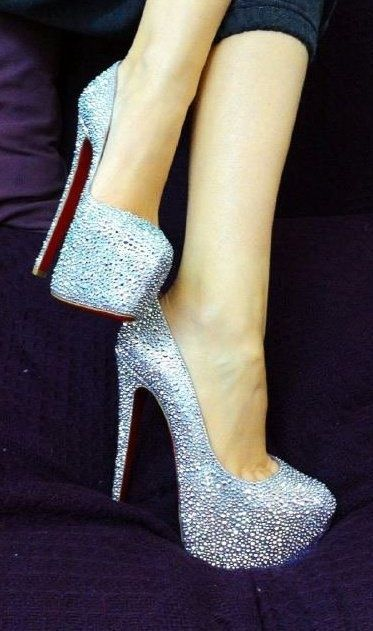 Omg to die for!! wish i had these for vegas! Sequined Shoes. CHRISTIAN LOUBOUTIN  More Fashion At www.thedillonmall...  Free Pinterest E-Book Be a Master Pinner