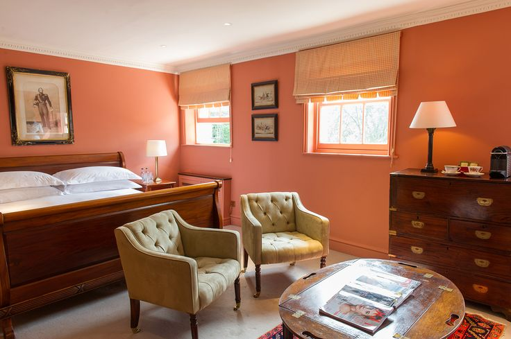 One of our Great Rooms with king size bed, views of the private gardens and lovingly restored antique furniture (including a hidden from view open claw- foot bath tub!) #LuxuryTravel in the heart of #NottingHill. #hotellife #london #visitlondon #theportobellohotel #boutiquehotel #beautifulhotels