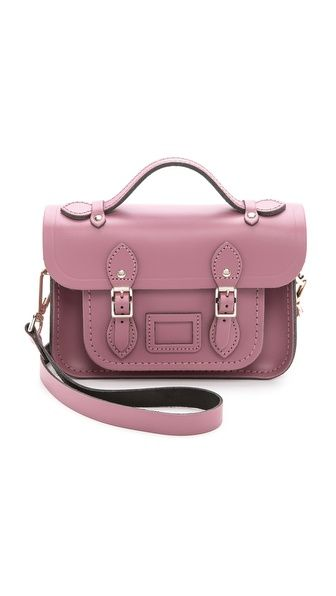 Cambridge Satchel Mini Classic Satchel in Dark Blush