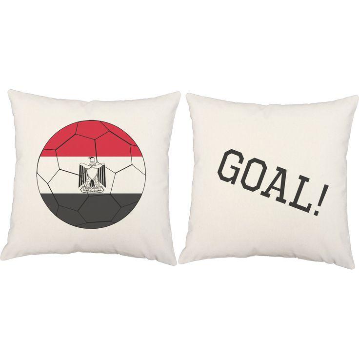 Egyptian Flag Soccer Ball Throw Pillows - Set of 2