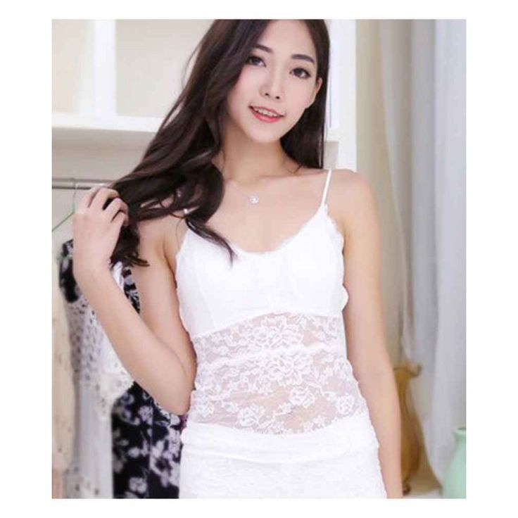 White Lacy Paddded Slip With Stringed Back Bra #womensfashion #paddedbra #brawithcamisole #whitebra #lacedbra
