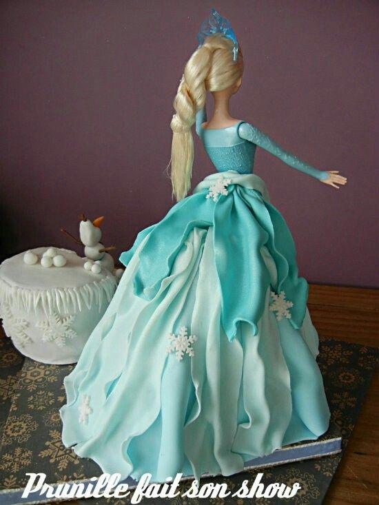 elsa reine des neige gateau princesse barbie - Barbie La Reine Des Neiges
