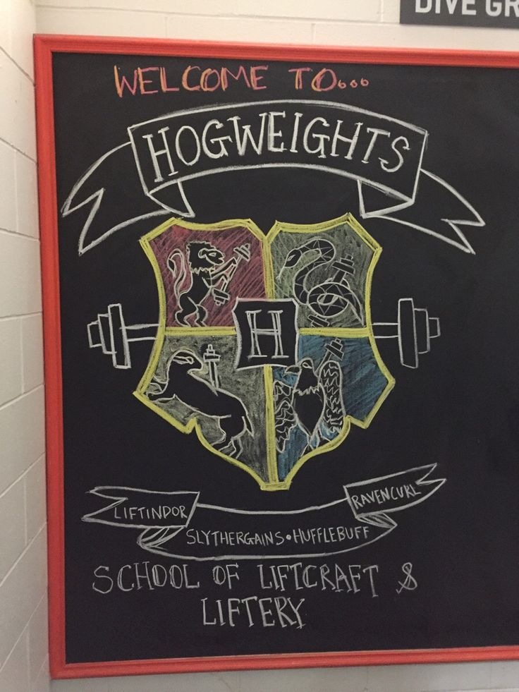 A PT at my gym draws something new on the blackboard every week. This was today's effort. http://ift.tt/2wBNJaY