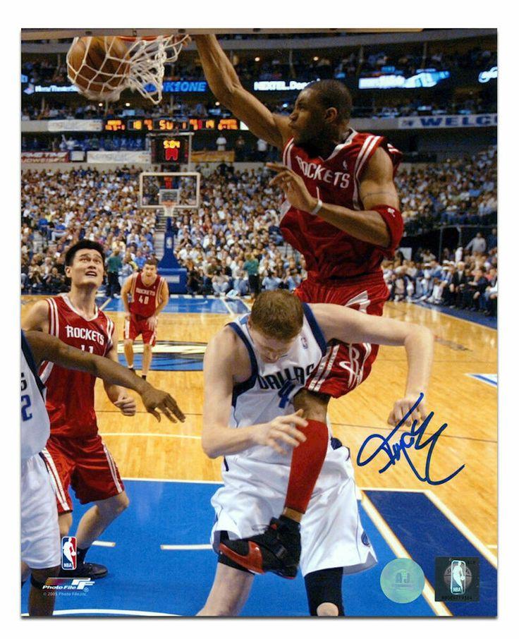 Tracy McGrady Houston Rockets Autographed Dunk On Bradley
