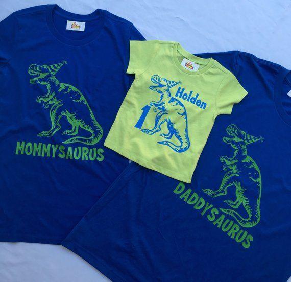 3 Dinosaur Shirts Set Of Birthday Shirt 2 Adult 1 Kid T Re