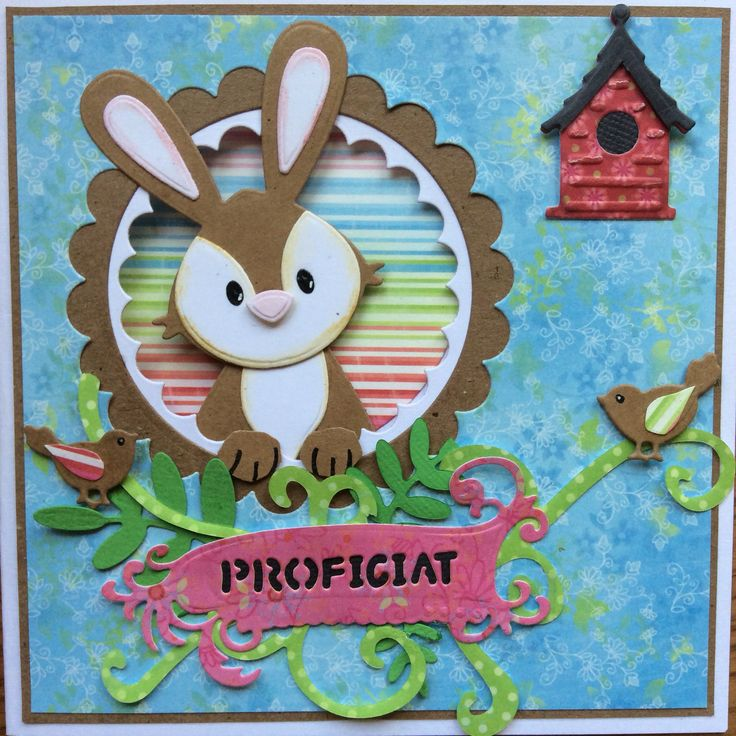 Proficiat! Birthday card Bunny (marianne design)