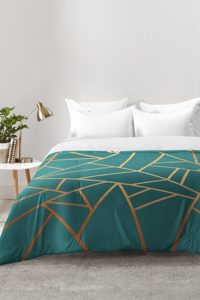 Elisabeth Fredriksson Copper and Teal Comforter | DENY Designs Home Accessories