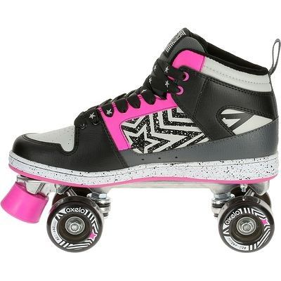 Patins roulettes quad and roses on pinterest - Patin antiderapant chaussure ...
