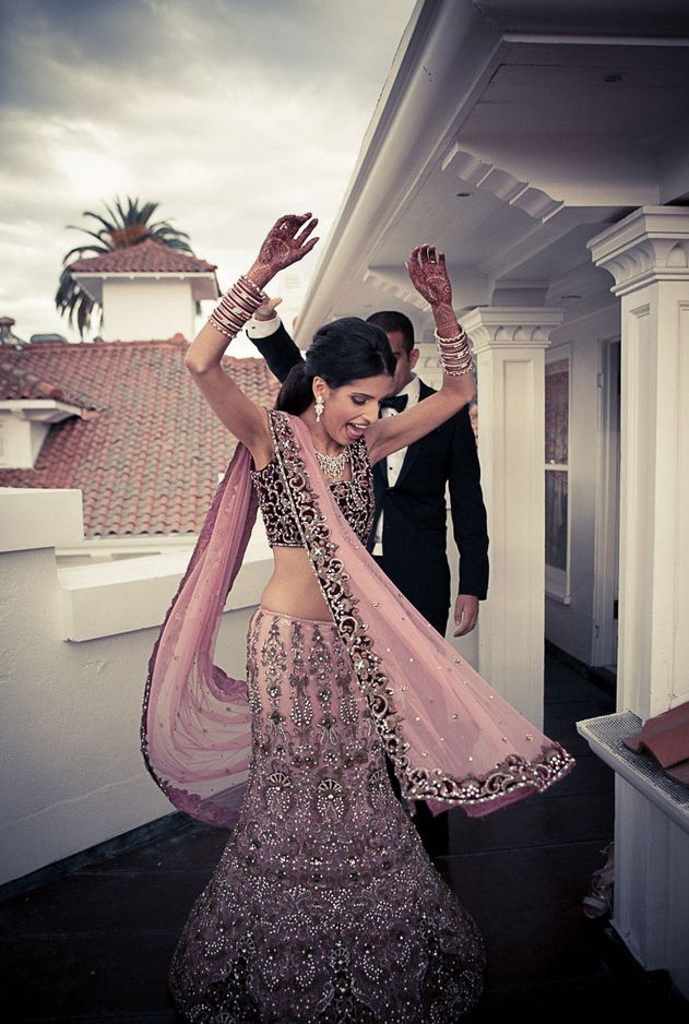 pale pink lehenga #saree #indian wedding #fashion #style #bride #bridal party #brides maids #gorgeous #sexy #vibrant #elegant #blouse #choli #jewelry #bangles #lehenga #desi style #shaadi #designer #outfit #inspired #beautiful #must-have's #india #bollywood #south asain