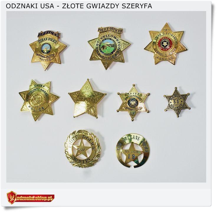 Złote odznaki - Gwiazda szeryfa - Gold star sheriff