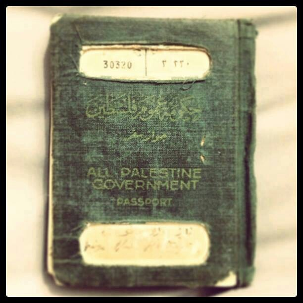 Palestinian Passport before the Nakba 1965. Imagine that? Says it right across the front, Palestine government!