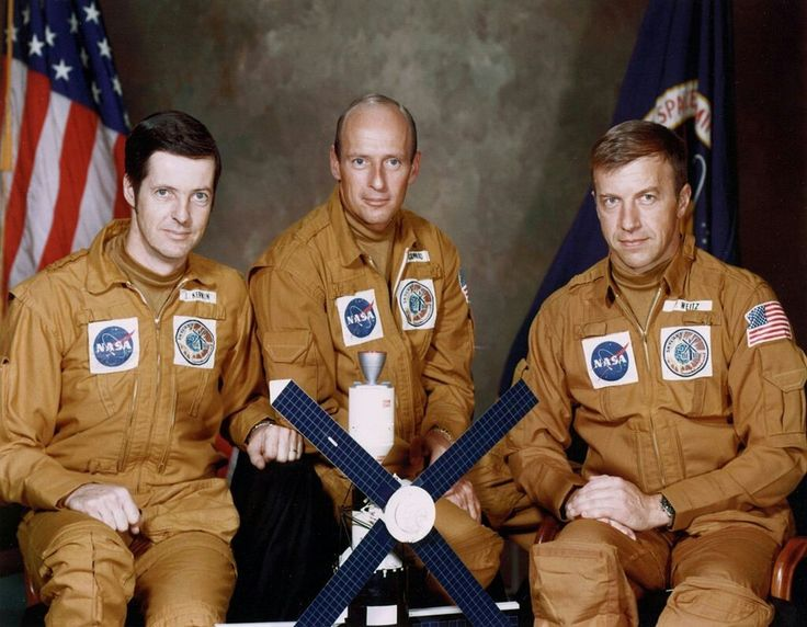 The Skylab 2 crew - Joseph Kerwin and Paul Weitz, along with the late Charles (Pete) Conrad, were the first to staff the station. Their stay took place between May 25 and June 22, 1973.