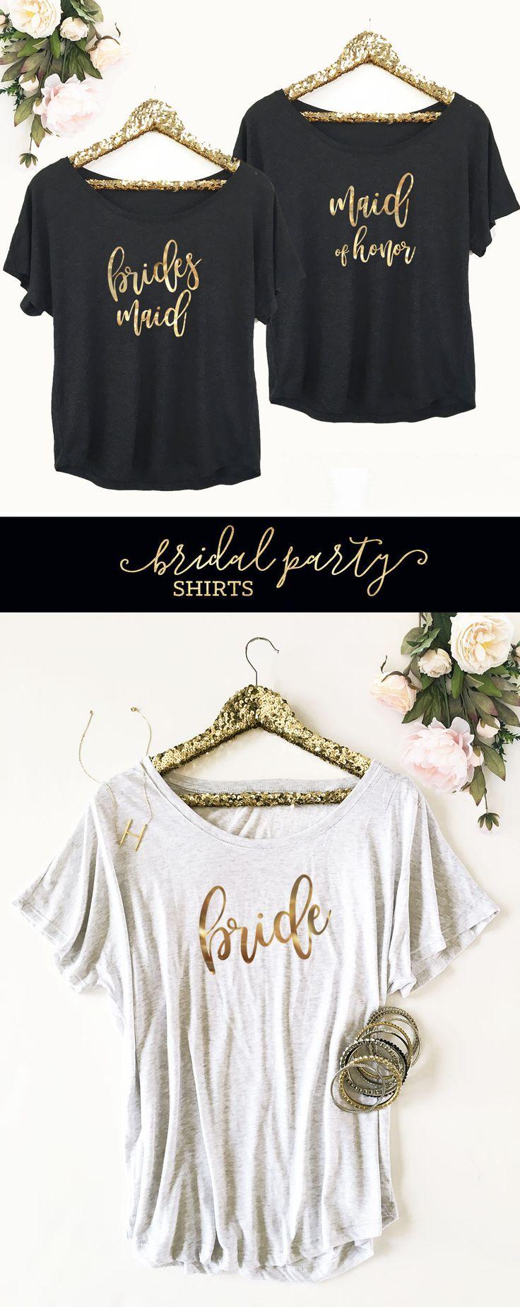 BRIDESMAID SHIRTS | BRIDAL PARTY TSHIRTS | BRIDE SHIRT | WEDDING SHIRTS