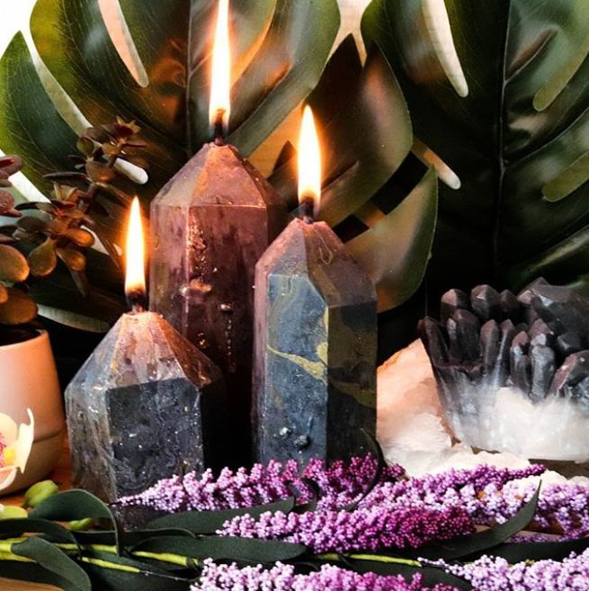 Black Crystal Candles | Witch Candles | Darkness Candles | Black Candles |  Black Gemstone | Witchy Vibes | Esoteric … | Witch candles, Black candles, Witchy  candles