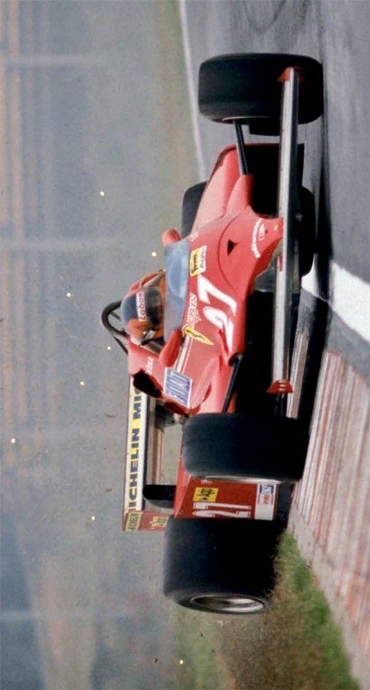 Gilles, sideways in Ferrari 126 CK, 1981