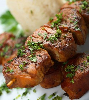 Recipes - I Love Cooking, How to cook South African recipes.   Ginger & Soy Pork Kebabs