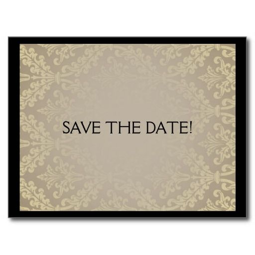 save the date card art deco elegant wedding invita the o 39 jays art and save. Black Bedroom Furniture Sets. Home Design Ideas