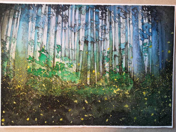 Fireflies di FireAndDream su Etsy