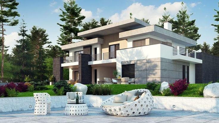 DOM.PL™ - Projekt domu SZ5 Zx107 CE - DOM SZ4-26 - gotowy projekt domu