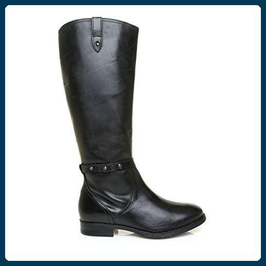 MARIAH Schwarz Niedrig Absatz Echt Leder Klassisch Reiten Stiefel - 3 UK / 36 EU - Stiefel für frauen (*Partner-Link)