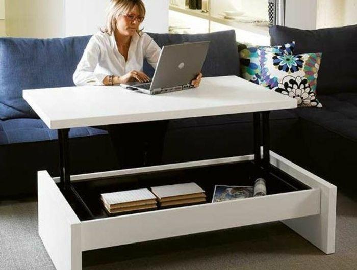 Le Bureau Pliable Est Fait Pour Faciliter Votre Vie Table Basse Rangement Table Basse Table Basse Relevable