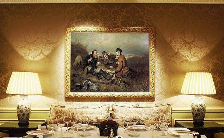 Картина по номерам «Охотники на привале» | Картины ...