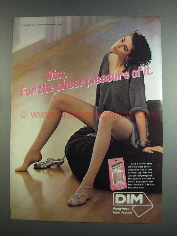 1984 Dim Pantyhose Ad - For Sheer Pleasure  0219ab5ff5b