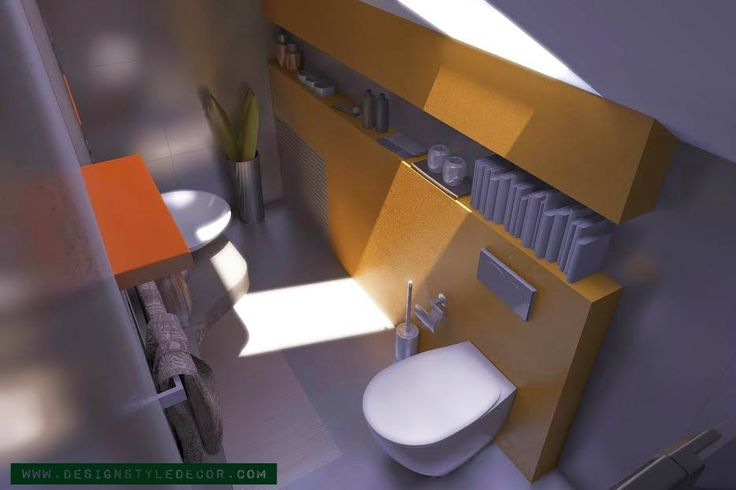 small and stylish attic apartment for a young couple - bathroom