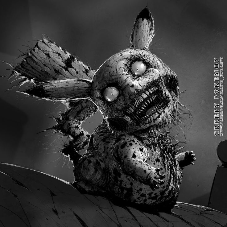 Creepy Pokemon: Pikachu by David Szilagyi