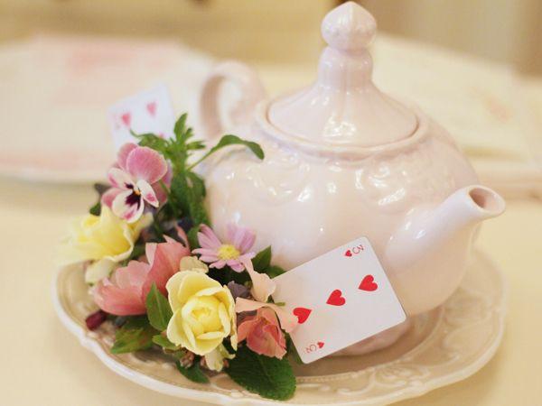 [FLOWER]ハートの女王のトランプアレンジ♡◇不思議の国のガーデンウエディング   | [公式]新横浜 HANZOYA WEDDING