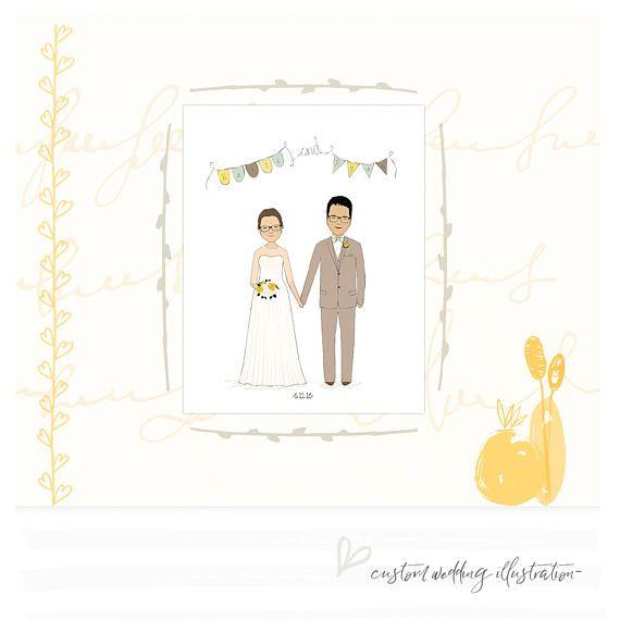 Custom Portrait Wedding Gift Wedding Gift Ideas Unique Wedding