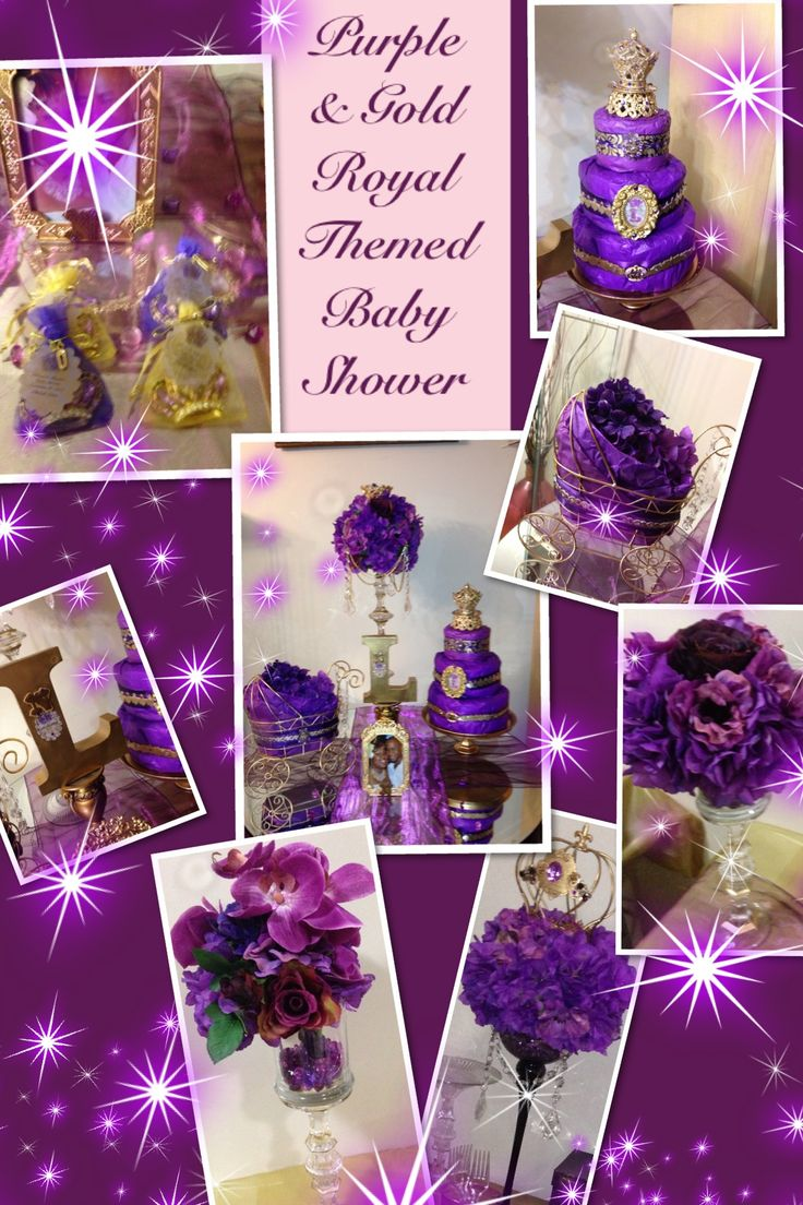 Purple & Gold Royal Themed Baby Shower