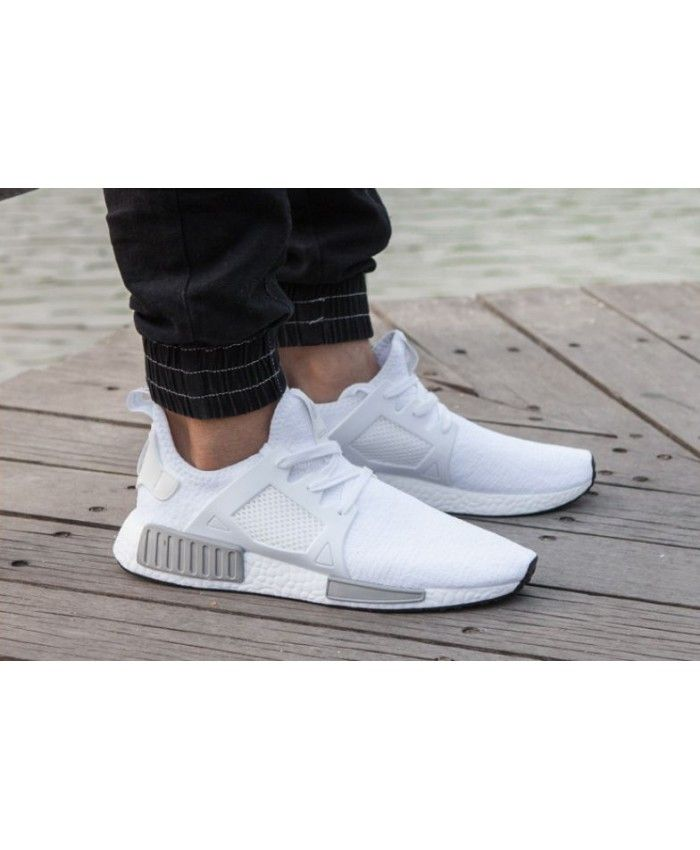 906f9cff13e42 Adidas NMD R1 Mens White And Wolf Grey Shoe