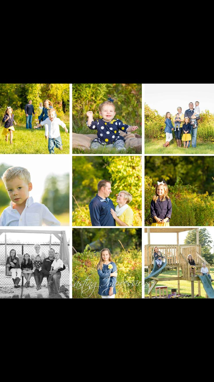 Family of 6 fall sunset photography. By Helen Mels. Lasting Impressions. Photography posing. Family photos.