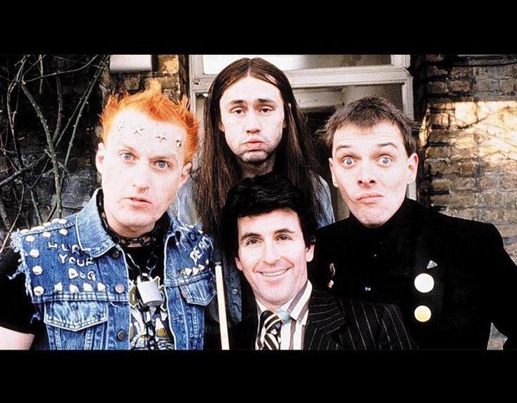Adrian Edmondson, Nigel Planer, Rik Mayall & Ryan Christopher in The Young Ones