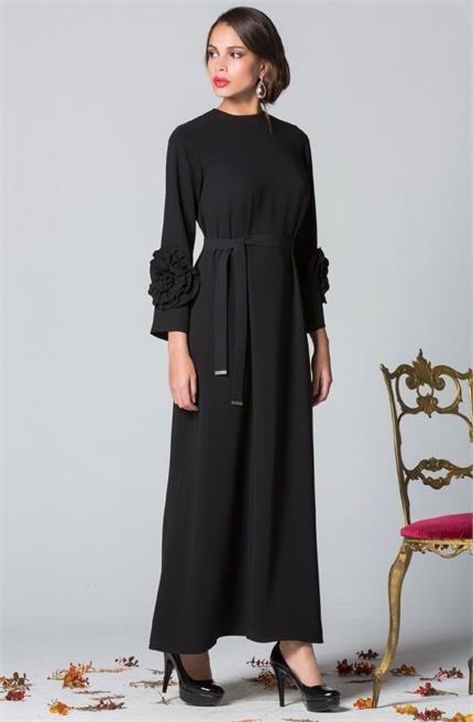 Senna Design Mevsimlik Rosy Elbise 3048 Siyah