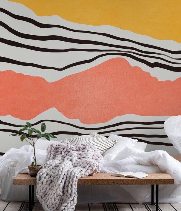 Modern Irregular Stripes 01 Wallpaper Wall Murals Bedroom Wall Murals Diy Creative Wall Painting