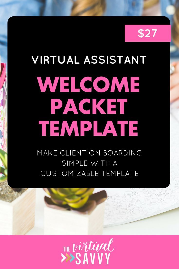 When you first sign on a virtual assistant client, you need to relay some info to your client. The easiest way to do this is through a Welcome Packet!  In this customizable template, we'll show you what to include in your Welcome Packet including an intro letter, what to expect regarding time tracking, invoicing, holidays, rush jobs, and a client questionnaire that can be sent at the beginning of your working relationship.  #va #virtualassistant #marketing #socialmedia #blogging #branding