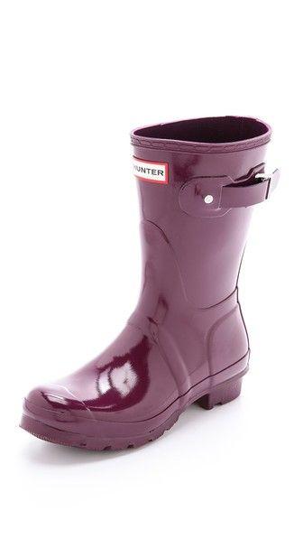 Hunter Boots Оригинальные короткие блестящие сапоги