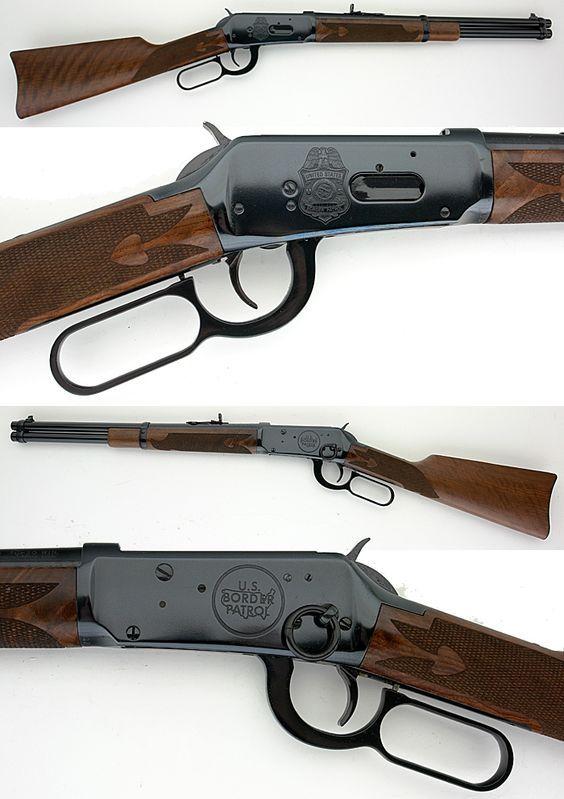 """Winchester model 94 commemorative """"Border Patrol"""" edition. Caliber .30-30. Bring it minute men! #winchester #rifle #gun:"""