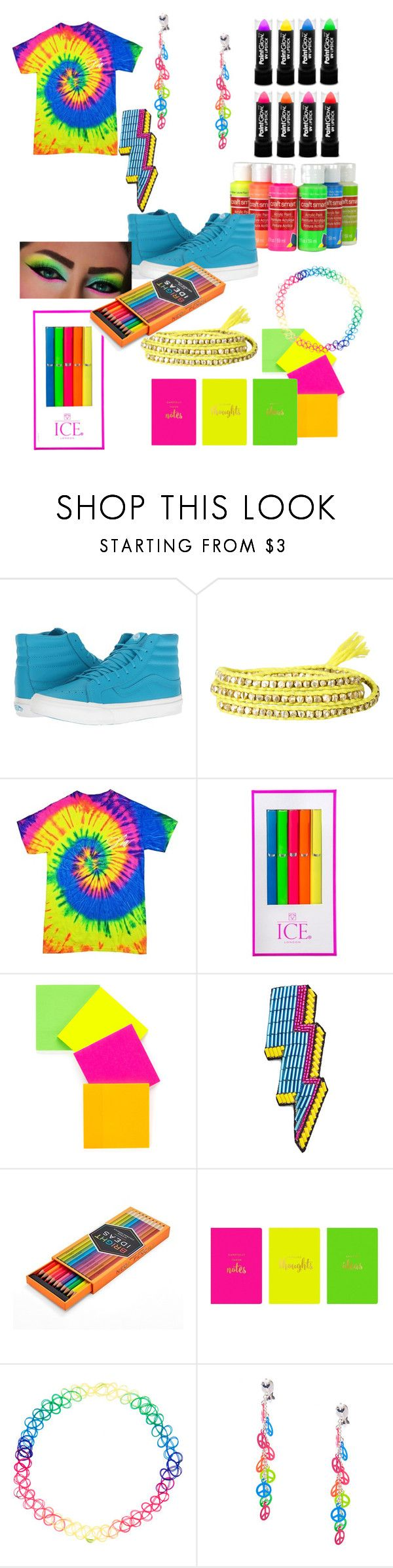 """""""Neon #4"""" by xgingerlovex ❤ liked on Polyvore featuring Vans, ICE London, Happy Embellishments, FOSSIL, Eccolo and Accessorize"""