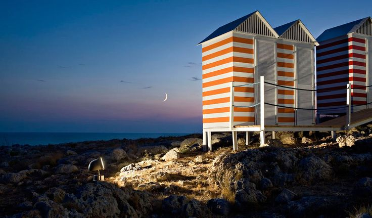Sunset on the beach in Apulia , Italy. www.pugliamoremio.com