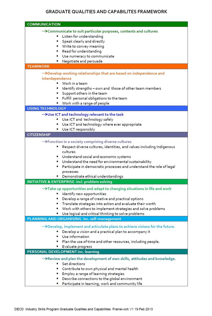 decd graduate qualities and capabilities career development and decd graduate qualities and capabilities career development and vet